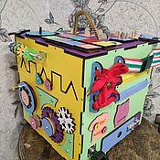 """Бизиборды ручной работы. Ярмарка Мастеров - ручная работа Бизикубик """"механизм"""" без звука. Handmade."""