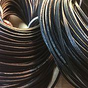Материалы для творчества ручной работы. Ярмарка Мастеров - ручная работа Шнур кожаный 2х3 мм ,  коричневый. Handmade.
