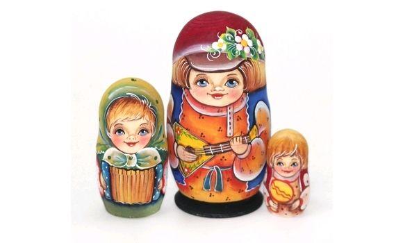 Матрешка Андрюша с балалайкой 11см 3м, Народная кукла, Шатура,  Фото №1
