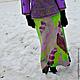 """Юбки ручной работы. Авторская юбка """"Chartreuse and violet"""".. Ирина Федотова. Ярмарка Мастеров. Юбка длинная, юбка валяная"""