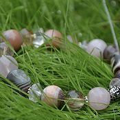 Украшения handmade. Livemaster - original item For Good luck-Ji bracelet, Madagascar quartz, Venus hair, agate. Handmade.