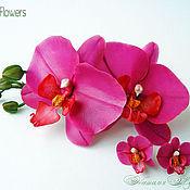 Украшения handmade. Livemaster - original item Set with orchids