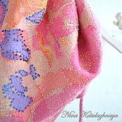 Аксессуары ручной работы. Ярмарка Мастеров - ручная работа Валяный шарф - бактус Фуксия. Handmade.