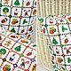 Шитье ручной работы. Ткань хлопок Новый год Квадраты. Рукоделие дома Товары для рукоделия. Интернет-магазин Ярмарка Мастеров.