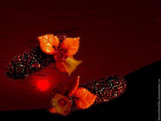 """Заколки ручной работы. Ярмарка Мастеров - ручная работа. Купить Пара заколок-миньонов """"Осенний ветер"""". Handmade. Рыжий"""