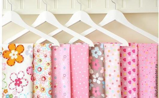 Шитье ручной работы. Ярмарка Мастеров - ручная работа. Купить Набор ткани розовый 8шт. 40х50см. Handmade. Розовый, ткань
