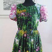 Одежда ручной работы. Ярмарка Мастеров - ручная работа Платье Лето Хлопок 100%. Handmade.