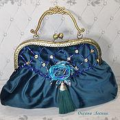 Сумки и аксессуары handmade. Livemaster - original item Bag with clasp: Emerald luxury. Handmade.