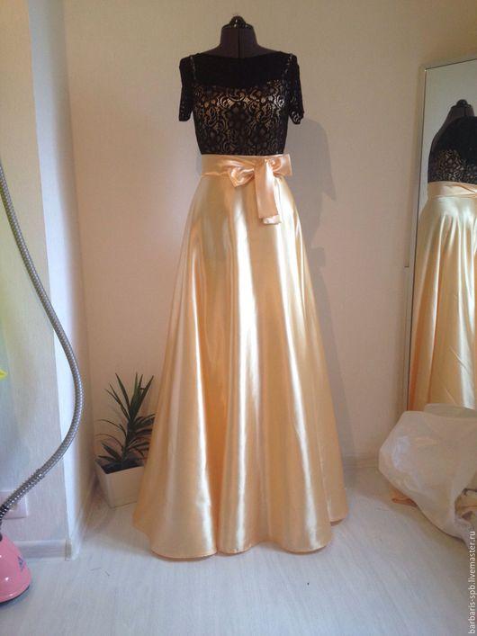 Платья ручной работы. Ярмарка Мастеров - ручная работа. Купить Длинное платье на выпускной, платье Черное золото. Handmade.