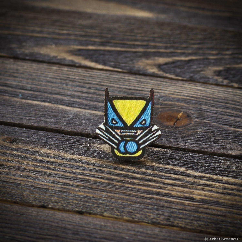 Wooden icon Wolverine, Badge, Volzhsky,  Фото №1