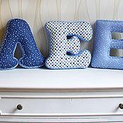 Для дома и интерьера ручной работы. Ярмарка Мастеров - ручная работа Мягкие детские буквы - игрушки. Handmade.