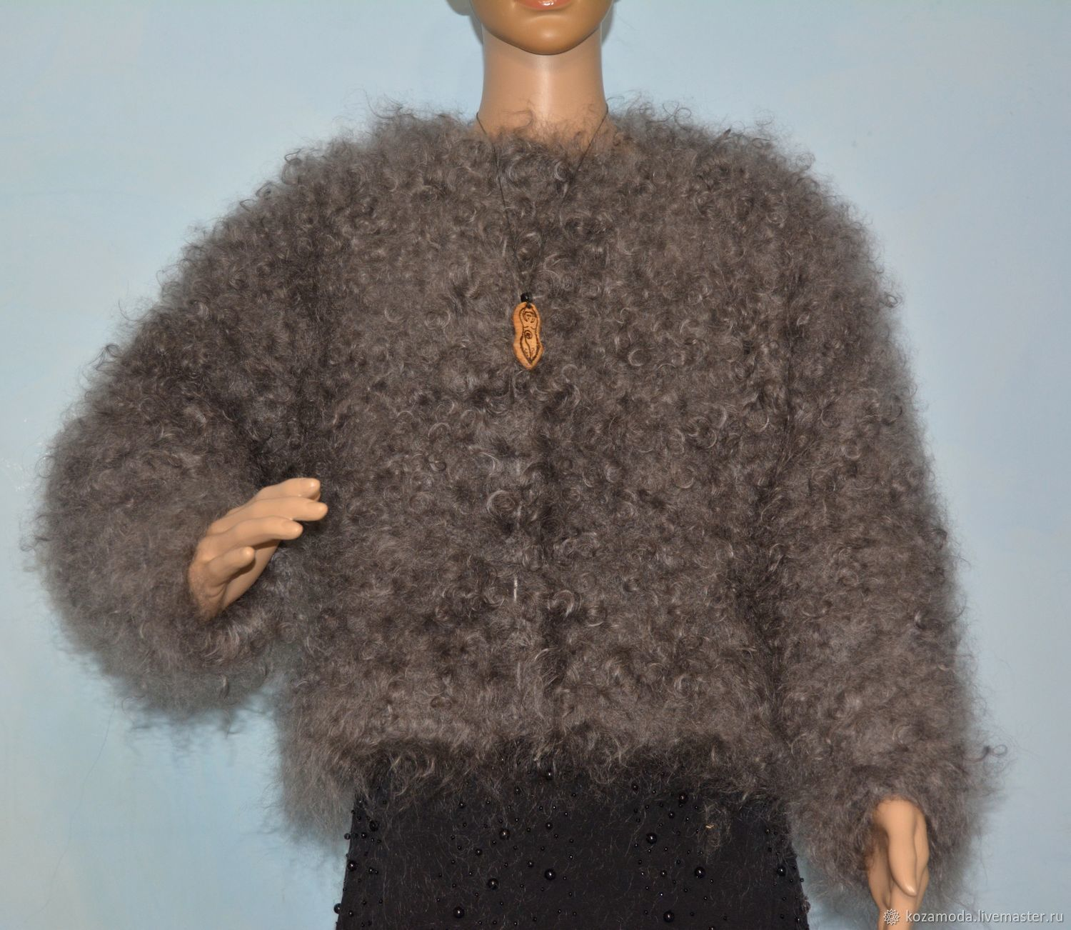 The puffer jacket is knitted in the style of Coco Chanel 100% goat down, Suit Jackets, Urjupinsk,  Фото №1