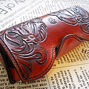 Сумки и аксессуары handmade. Livemaster - original item Leather eyeglass case, embossed eyeglass case, gift for a woman. Handmade.