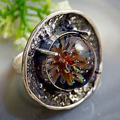 Украшения handmade. Livemaster - original item Ring Underwater world - lampwork, silver 925. Handmade.