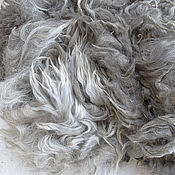 Материалы для творчества handmade. Livemaster - original item Alpaca Suri light gray #1281 180 gr. Handmade.