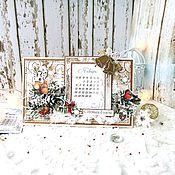 Календари ручной работы. Ярмарка Мастеров - ручная работа Настольный календарь. Handmade.
