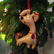 Куклы и игрушки ручной работы. Ярмарка Мастеров - ручная работа пёс Редди ( игрушка символ 2018 года). Handmade.