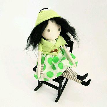 Куклы и игрушки ручной работы. Ярмарка Мастеров - ручная работа Куколка Горох Зеленый. Handmade.