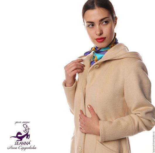 """Верхняя одежда ручной работы. Ярмарка Мастеров - ручная работа. Купить Классическое пальто из 100% кашемира """"Натуральный беж"""". Handmade."""
