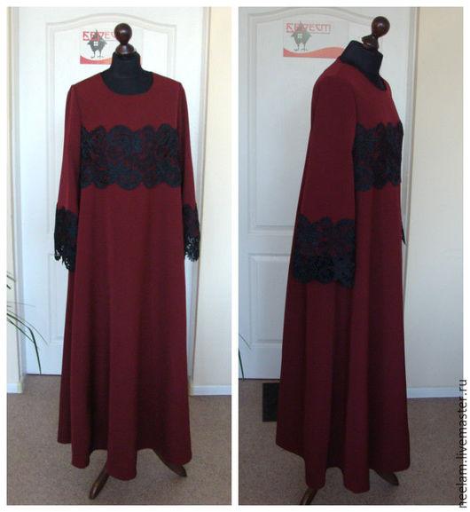 """Платья ручной работы. Ярмарка Мастеров - ручная работа. Купить Платье """"бордовый шедевр"""". Handmade. Бордовый, Платье нарядное"""