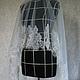 Одежда и аксессуары ручной работы. Ярмарка Мастеров - ручная работа. Купить Фата с кружевом. Handmade. Белый, невеста