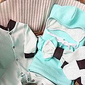"""Комплекты одежды ручной работы. Ярмарка Мастеров - ручная работа Комплект на выписку для малыша """"Горошинка"""". Handmade."""