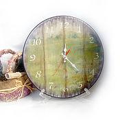 """Для дома и интерьера ручной работы. Ярмарка Мастеров - ручная работа Часы настенные большие """"Лето"""". Handmade."""
