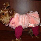 Для домашних животных, ручной работы. Ярмарка Мастеров - ручная работа Зимнии комплекты для собак ( для девочек ). Handmade.