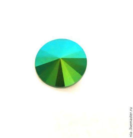 Для украшений ручной работы. Ярмарка Мастеров - ручная работа. Купить Риволи Сваровски 14 мм Scarabaeus Green. Handmade.