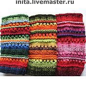 Аксессуары handmade. Livemaster - original item Multi-colored Leggings (blue, red, green, yellow, orange). Handmade.