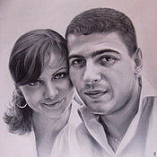 Подарки к праздникам ручной работы. Ярмарка Мастеров - ручная работа портрет влюбленных. Handmade.