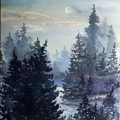 """Картины и панно ручной работы. Ярмарка Мастеров - ручная работа Картина """"Туманная ночь"""". Handmade."""