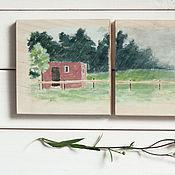 Картины и панно ручной работы. Ярмарка Мастеров - ручная работа Дело было летом. Handmade.