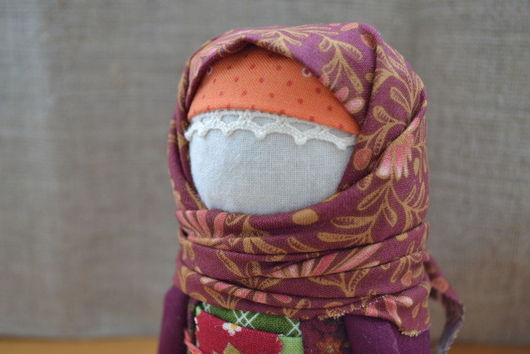 """Народные куклы ручной работы. Ярмарка Мастеров - ручная работа. Купить Крупеничка """"Осень""""продана. Handmade. Крупеничка, хлопок, осень, хлопок"""