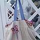 Женские сумки ручной работы. Ярмарка Мастеров - ручная работа. Купить Двусторонняя текстильная эко-сумка Цветочная бабочка. Handmade.