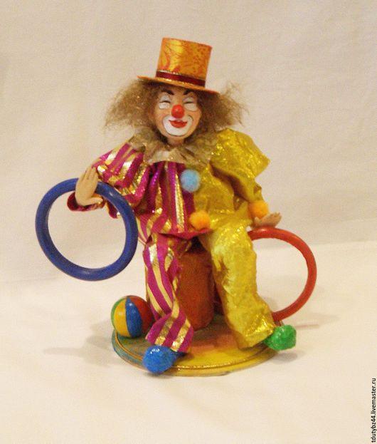 Коллекционные куклы ручной работы. Ярмарка Мастеров - ручная работа. Купить КЛОУН авторская кукла. Handmade. Ярко-красный