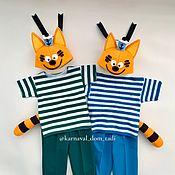 Одежда детская handmade. Livemaster - original item Cat costumes for the twin brothers New Year. Handmade.