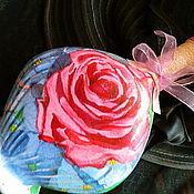 Посуда ручной работы. Ярмарка Мастеров - ручная работа РОЗОВЫЕ РОЗЫ СВЕТКЕ СОКОЛОВОЙ... (пустая)бутылка-графин. Handmade.