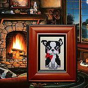 Картины и панно ручной работы. Ярмарка Мастеров - ручная работа Любимчики, три разных щеночка. Handmade.