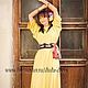 Платья ручной работы. Ярмарка Мастеров - ручная работа. Купить Жёлтое платье свободное с шелковым поясом. Handmade. Желтый, шелк