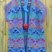 Одежда ручной работы. Ярмарка Мастеров - ручная работа Вязанный жилет из кауни. Handmade.