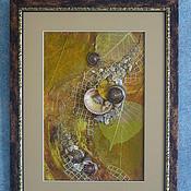 """Картины и панно ручной работы. Ярмарка Мастеров - ручная работа Флористический коллаж """"Осенний джаз"""". Handmade."""
