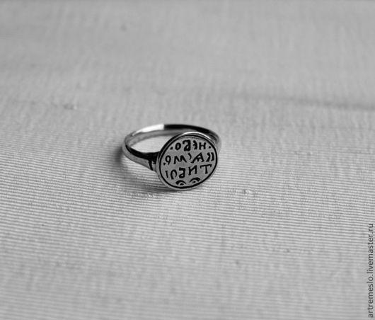 Серебряное кольцо «Не бойся смерти» / Кольцо из серебра / Печатка из серебра  Также можно приобрести кольцо из латуни (300 р.)