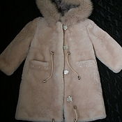Работы для детей, handmade. Livemaster - original item Outerwear: Fur coat for girls. Handmade.