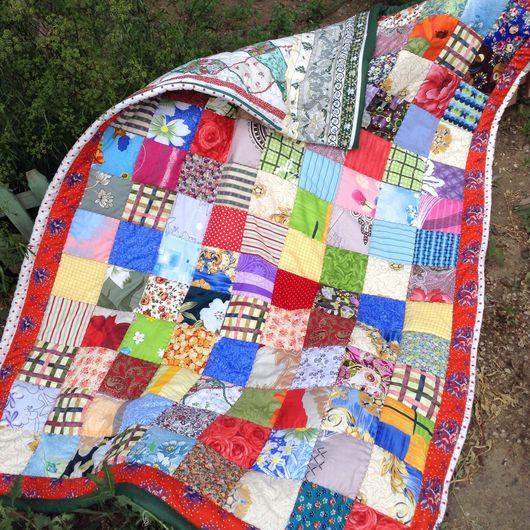 Текстиль, ковры ручной работы. Ярмарка Мастеров - ручная работа. Купить Уютное лоскутное одеяло, выгодно купить. Handmade.