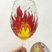 Посуда handmade. Livemaster - original item Glasses painted. Handmade.