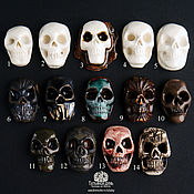 Материалы для творчества handmade. Livemaster - original item Ceramic skulls. Cabochons-ceramic skulls.. Handmade.