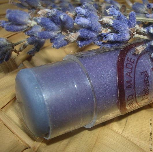 """Бальзам для губ ручной работы. Ярмарка Мастеров - ручная работа. Купить Бальзам для губ """"ЛАВАНДА"""". Handmade. Фиолетовый, etica"""