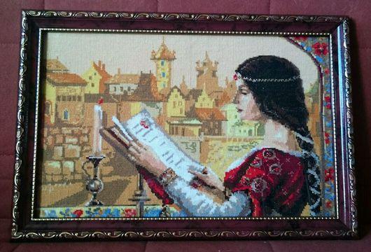 """Люди, ручной работы. Ярмарка Мастеров - ручная работа. Купить Вышитая картина """"Средневековье"""".. Handmade. Картина в подарок, Вышитая картина"""