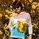 """Кофты и свитера ручной работы. Ярмарка Мастеров - ручная работа. Купить Джемпер """"Релакс"""". Handmade. Разноцветный, Машинное вязание, оверсайз"""